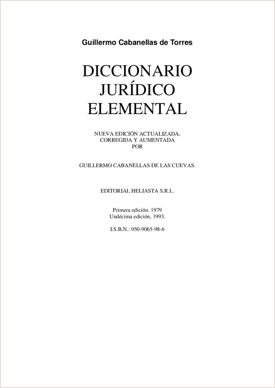 Hoja De Vida formato Unico Y Declaracion Juramentada De Bienes Y Rentas Diccionario Jurdico Elemental Cabanellas by šltimos En