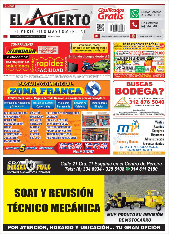 Pereira 712 11 noviembre 2016 by El Acierto issuu