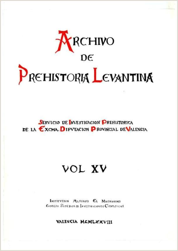 Archivo de Prehistoria Levantina XV