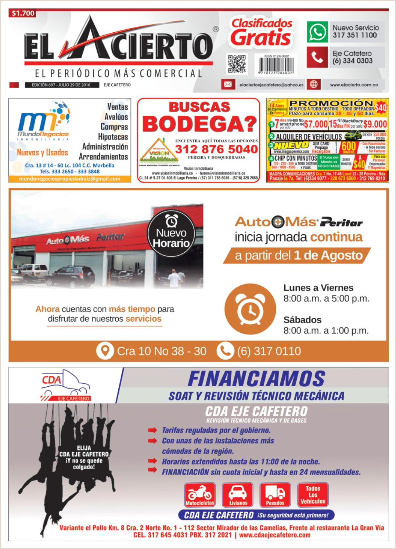 Pereira 697 29 de julio 2016 by El Acierto issuu
