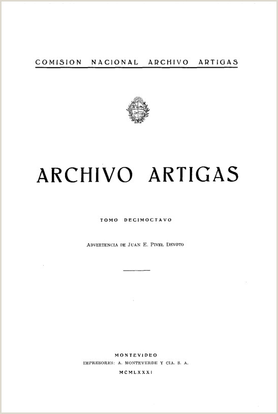 ision Nacional Archivo Artigas Archivo Artigas ID