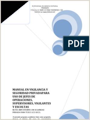 Manual en Vigilancia y Seguridad Privadapara Uso de Jefes d