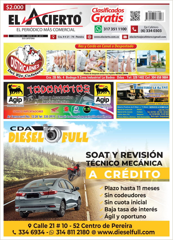 PEREIRA 844 31 mayo by El Acierto issuu