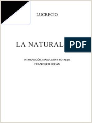 Lucrecio De Rerum Natura La Naturaleza De Las Cosas