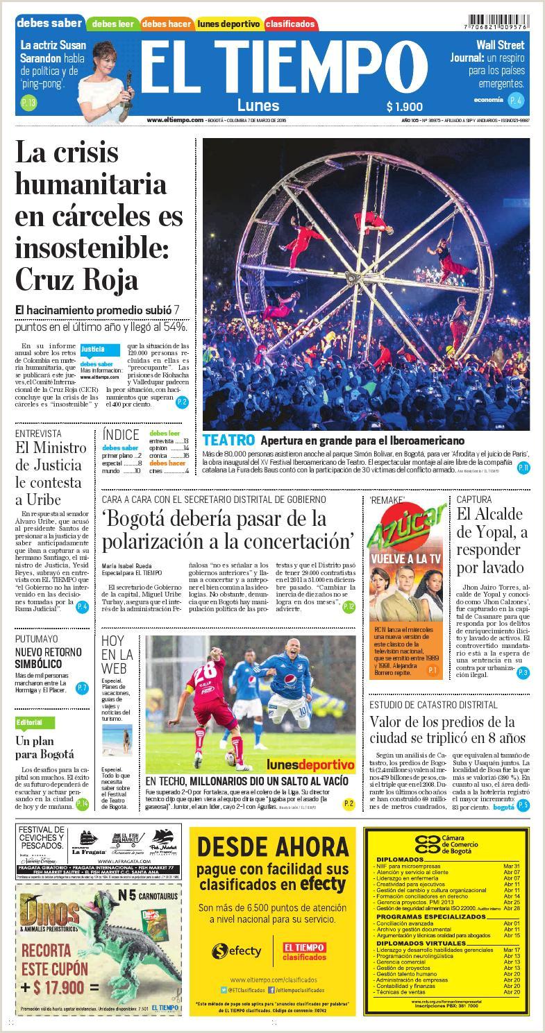 Hoja De Vida Minerva 1003 Digital El Tiempo 07 Marzo 2016 by andres A issuu