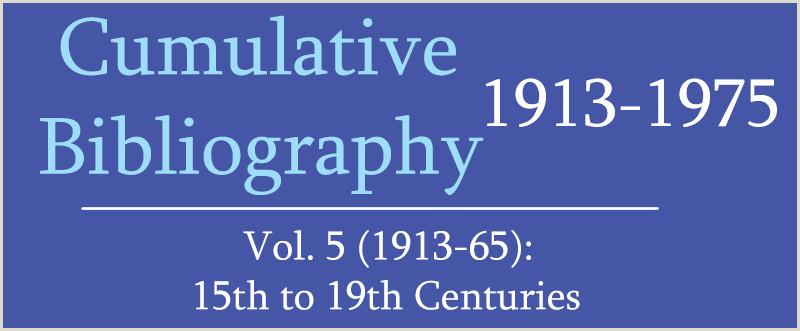 IsisCB Cumulative Bibliography Volume 5