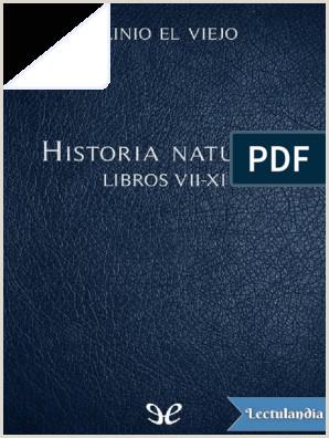 Hoja De Vida Minerva 1003 Pdf Descargar Historia Natural Libros Viixi Plinio El Viejo Pdf