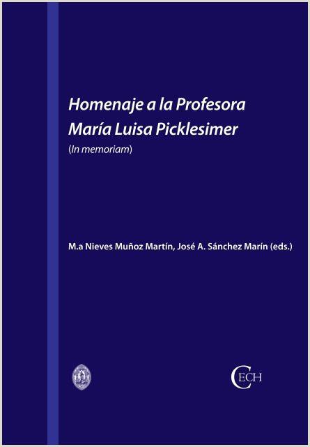 Hoja De Vida Minerva Azul Llena Homenaje A La Profesora Mara Luisa Picklesimer