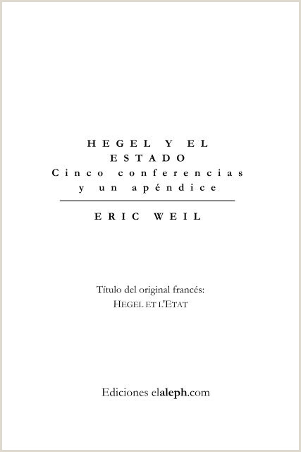 Weil Eric Hegel y el Estado pdf Editorial Ultimo Recurso