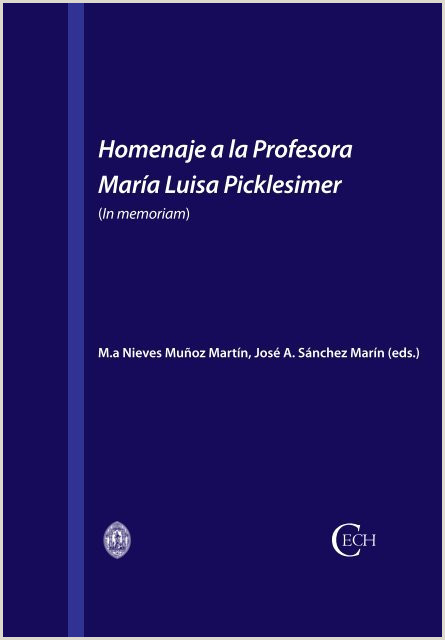 Homenaje a la Profesora Mara Luisa Picklesimer
