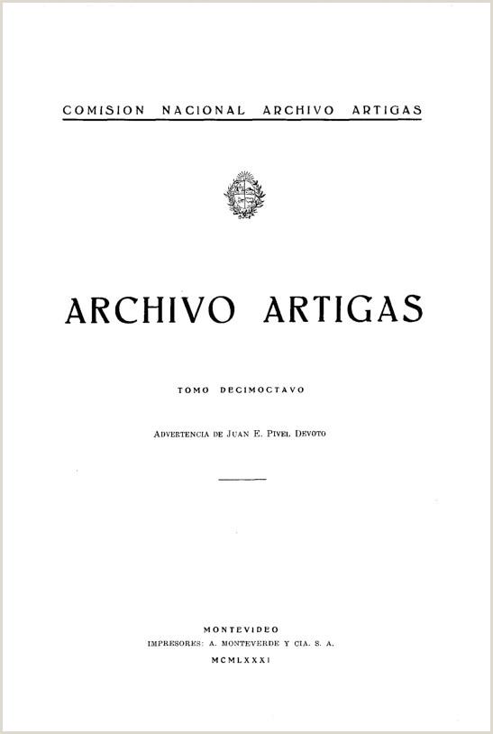 ision Nacional Archivo Artigas Archivo Artigas ID