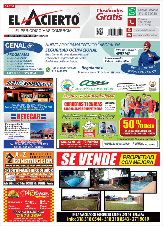Palmira 948 4 de agosto 2017 by El Acierto issuu