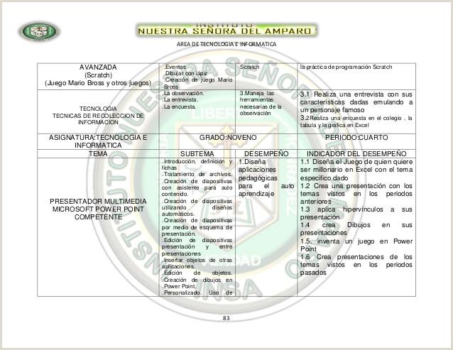 Hoja De Vida Minerva formato Excel Proyecto De area 2013