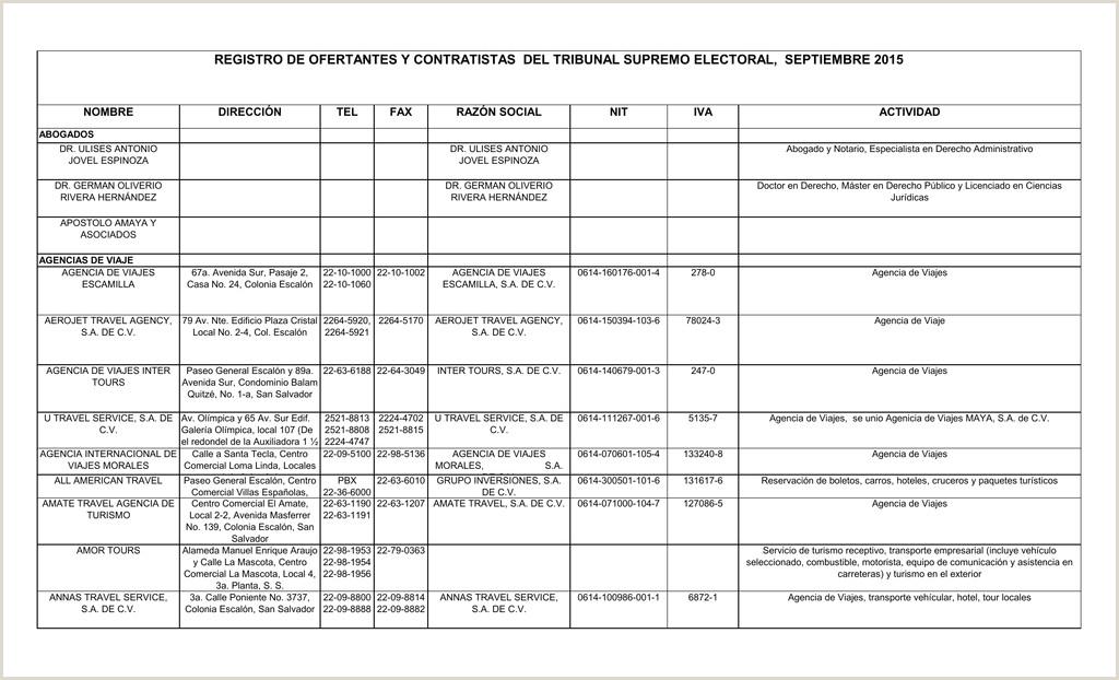 Hoja De Vida Minerva formato Excel Registro De Ofertantes Y Contratistas Del Tribunal Supremo