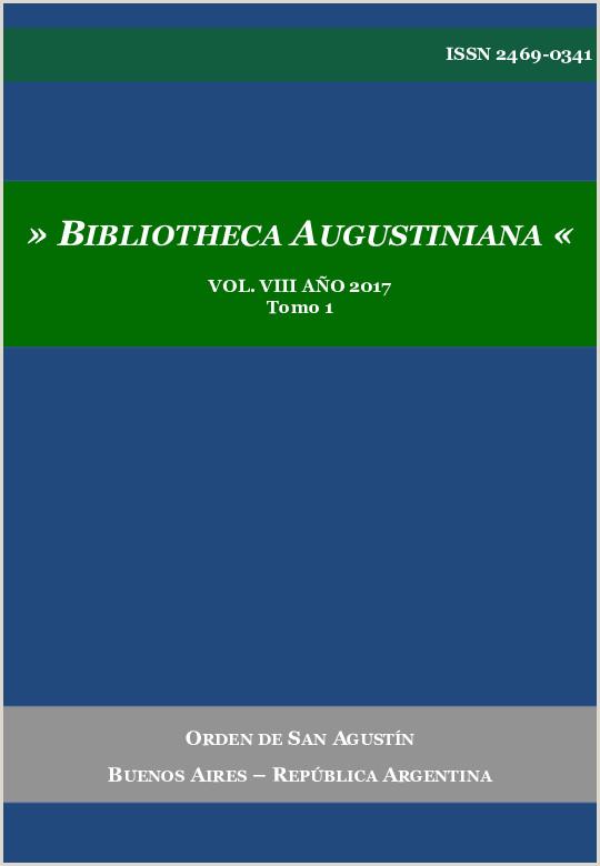PDF BIBLIOTHECA AUGUSTINIANA ISSN 2469 0341 VOL VIII