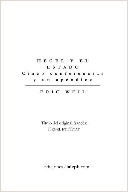 Weil Eric Hegel y el Estado pdf Editorial Ultimo Recurso