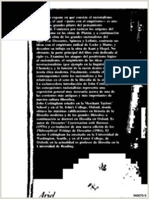 Cottingham John El Racionalismo Ed Ariel Barcelona