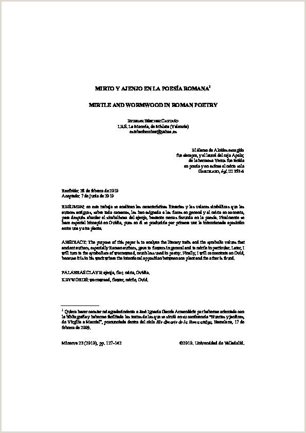 PDF Dialnet Mirto YAjenjo En La Poesia Romana