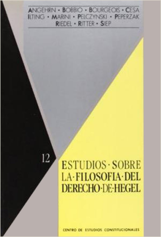 Estudios sobre la filosofia del derecho de Hegel Gabriel