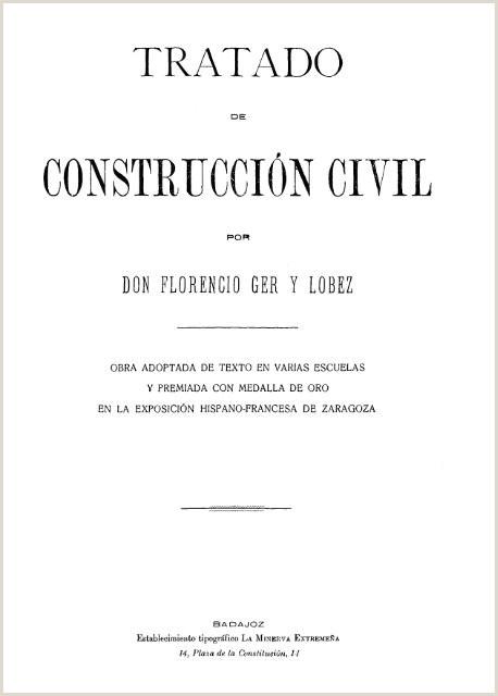 Tratado de Construcci³n Civil por Florencio Ger y L³bez