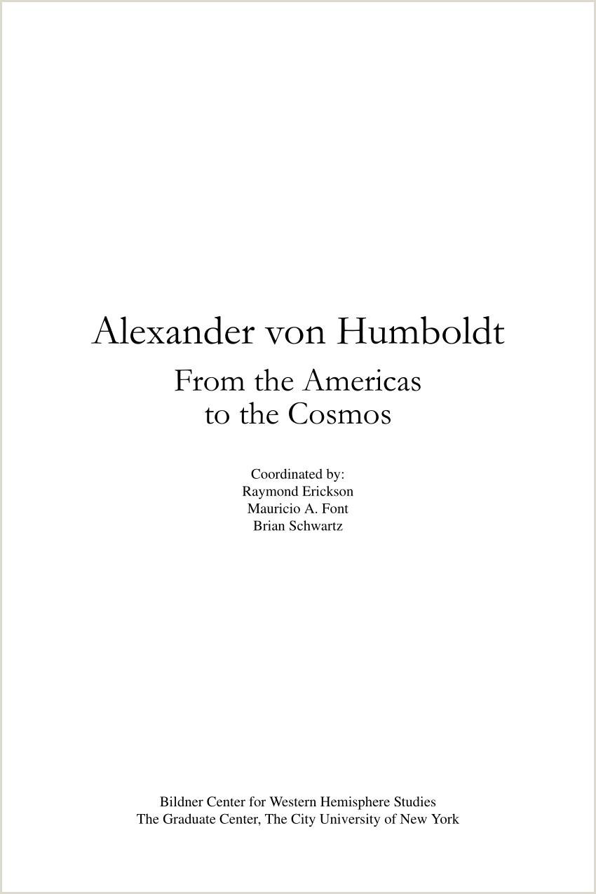 PDF Alexander von Humboldt From the Americas to the Cosmos