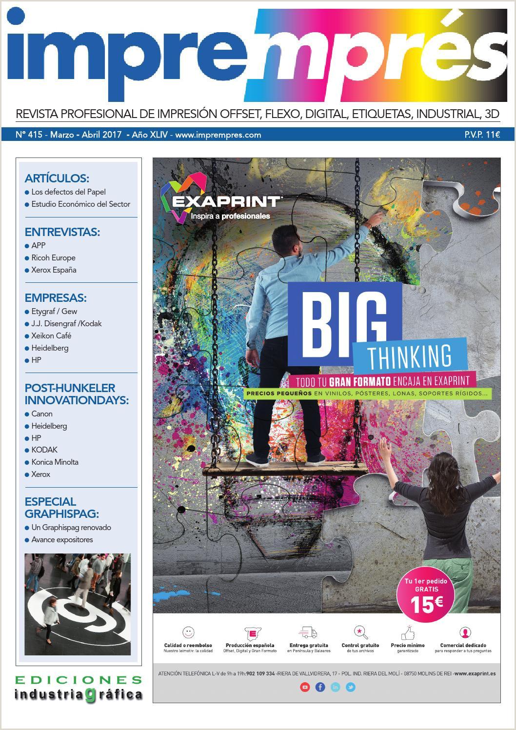 Impremprés 415 Marzo Abril 2017 by Ediciones Industria