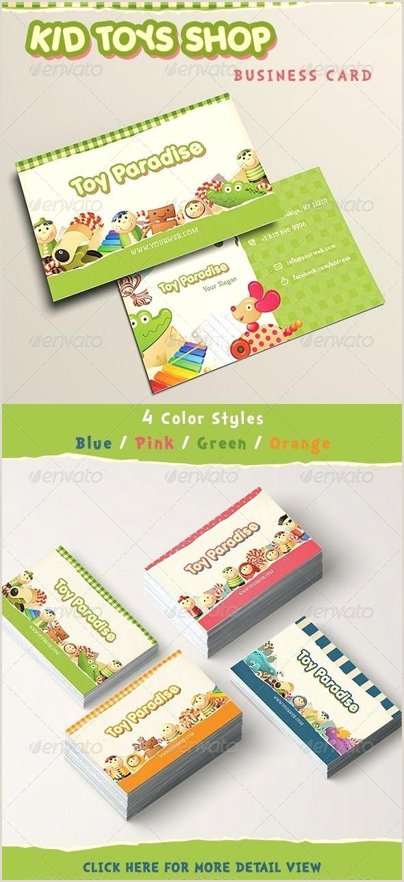 Kid Business Card Template Child Care Templates Free