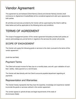 Vendor Agreement Template Get Free Sample