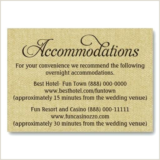 Ac modation Card Template Hotel Rate Wedding Invitations