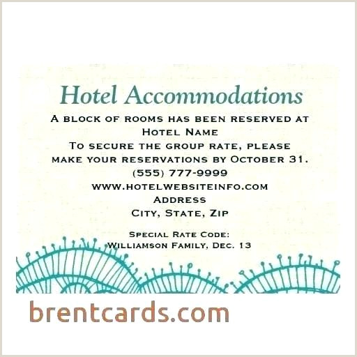 Hotel Accommodations for Wedding Guests Template Guest Information Template Visitor Card You Can Customize