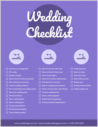 Wedding Checklist Template Venngage