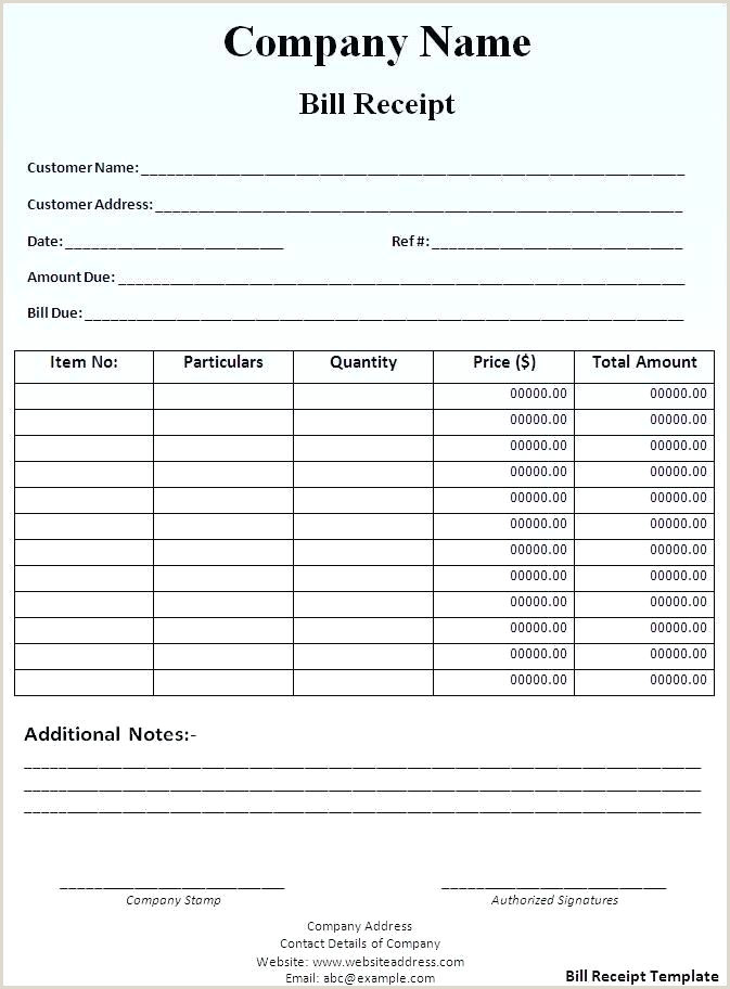 Bill Template Word Hotel Donation Receipt In Sales Free