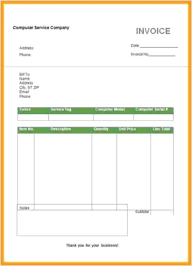 billing invoice template