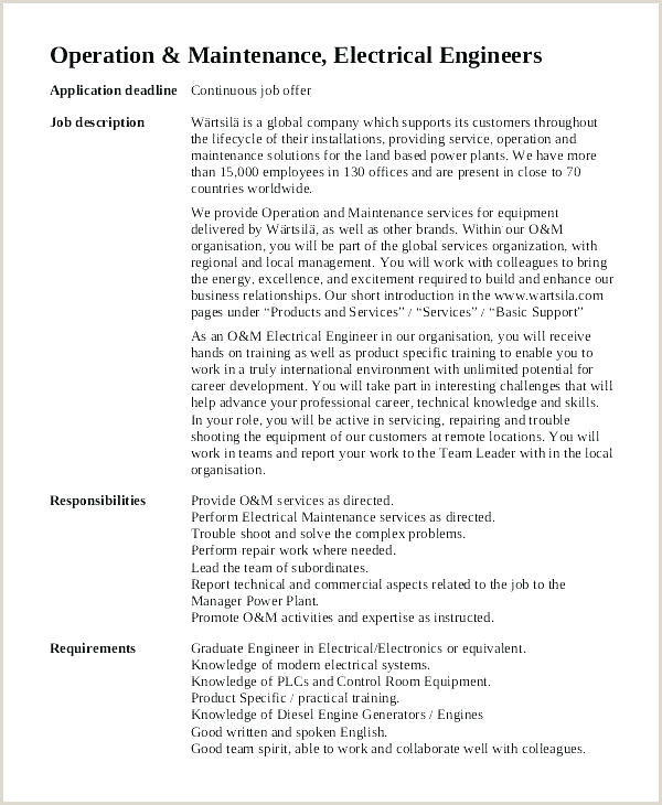 mechanical engineer job description template