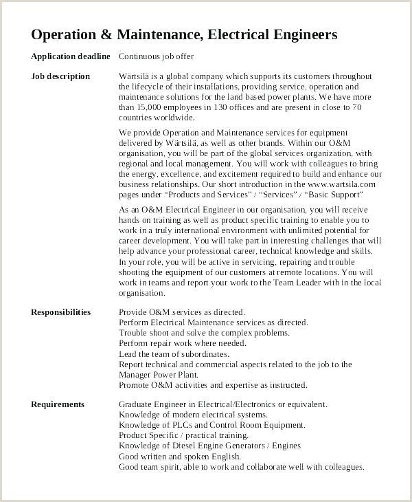 Hotel Director Of Operations Job Description Mechanical Engineer Job Description Template