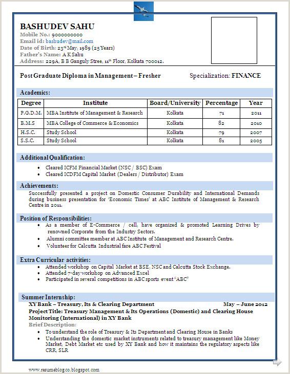 Hotel Management Student Resume Sample Of A Beautiful Resume format Of Mba Fresher Resume