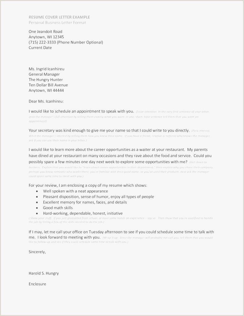 Resume Cover Letter Restaurant General Manager – Salumguilher