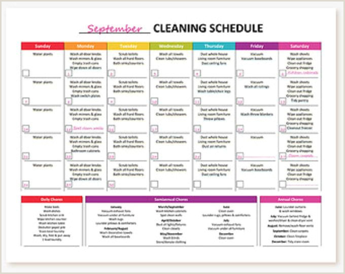House Cleaning Checklist Template Printable Monthly Cleaning Checklist Chores
