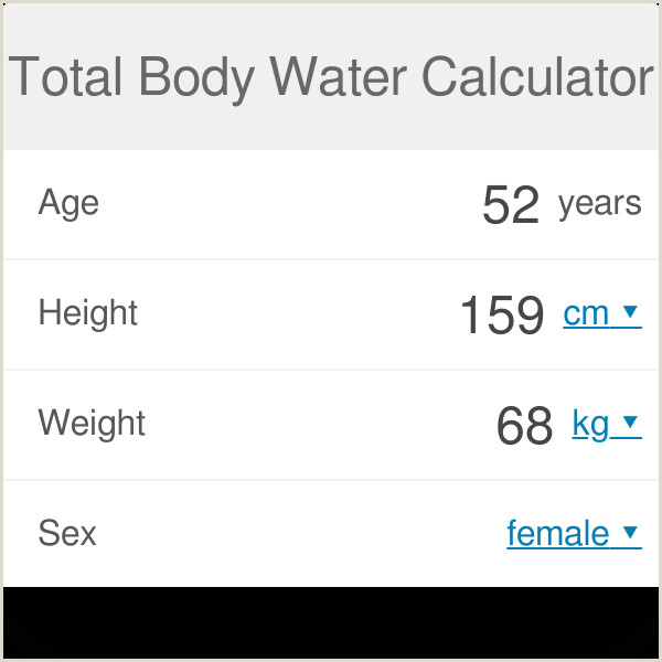 How to Calculate Percentage Of Weight Loss In Excel total Body Water Calculation Omni Calculator
