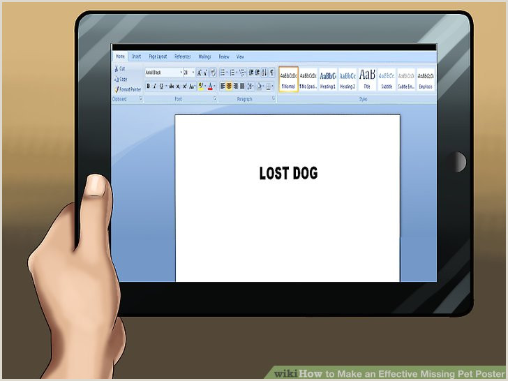 How to Make an Effective Missing Pet Poster with
