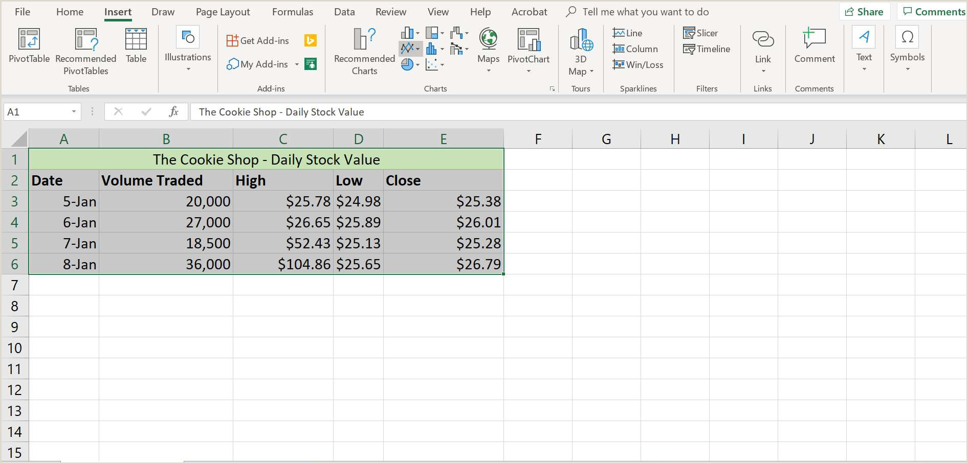 How to Make Graphing Paper In Word How to Make and format A Line Graph In Excel