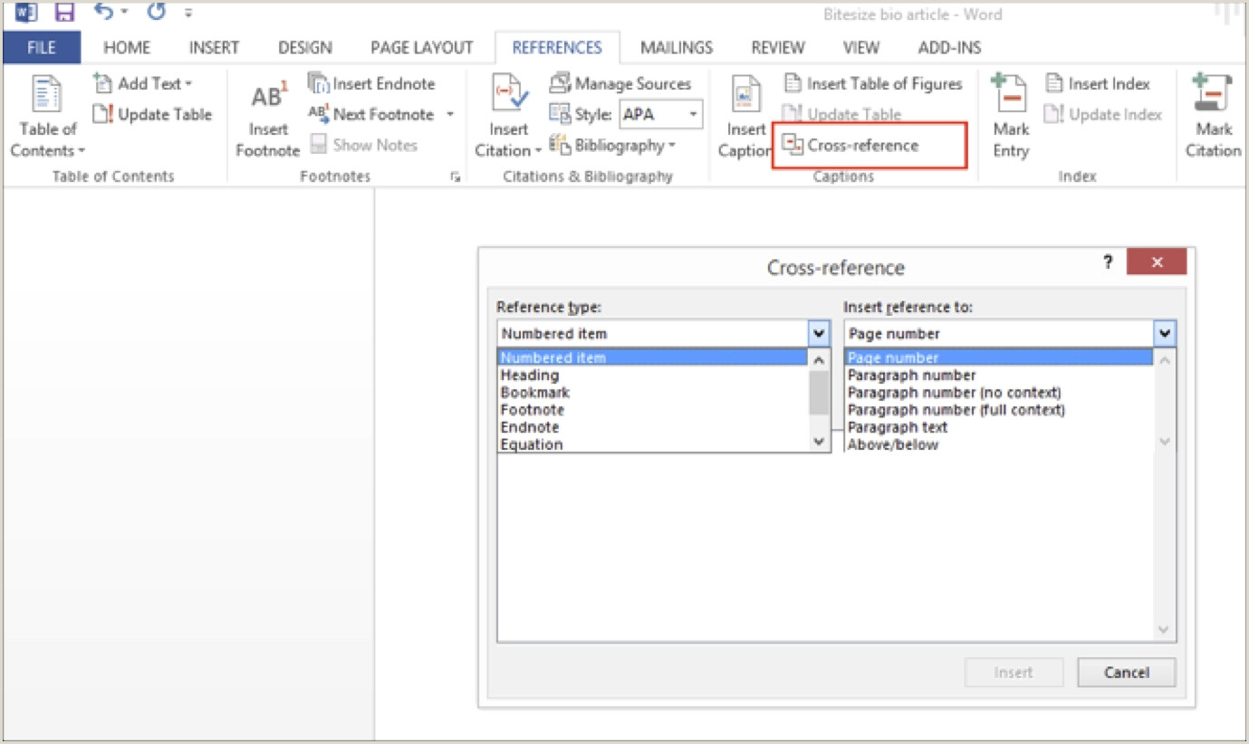 Using Word to Write your Thesis Making a Table of Contents