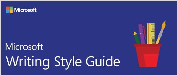 Wel e Microsoft Style Guide