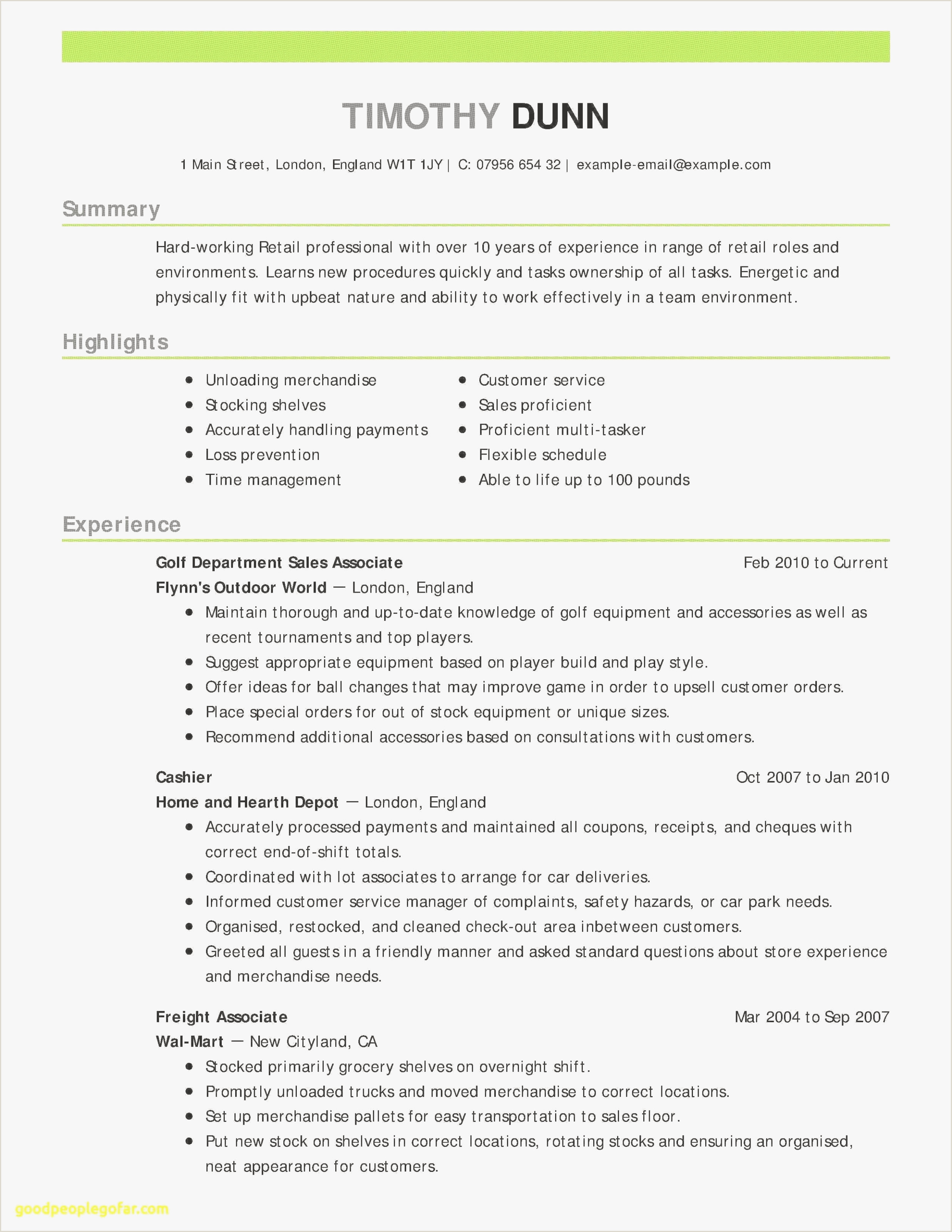 How to Put Restaurant Experience On A Resume Pr Resumes Examples Free Unique Skills to Put Resume Best
