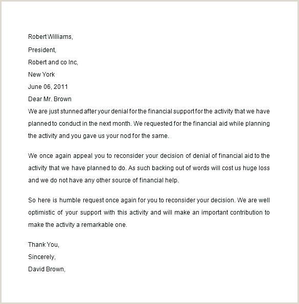 formal appeal letter template