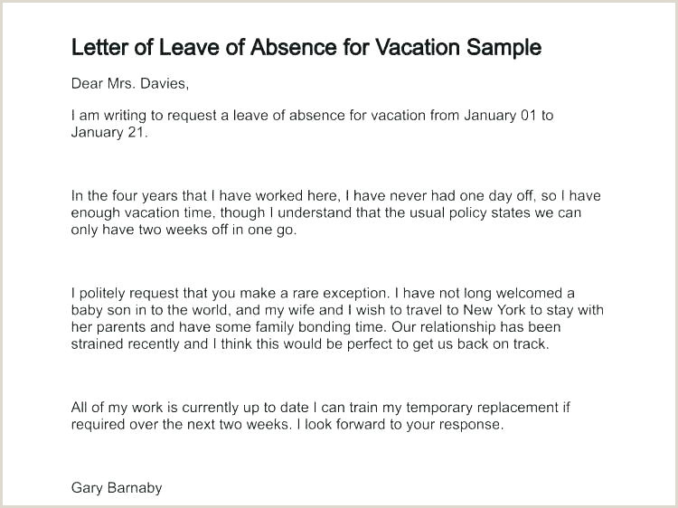 f Sick Email Template A Formal Vacation Request