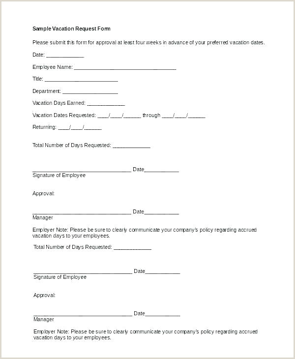 How to Write Vacation Request Letter F Sick Email Template A formal Vacation Request