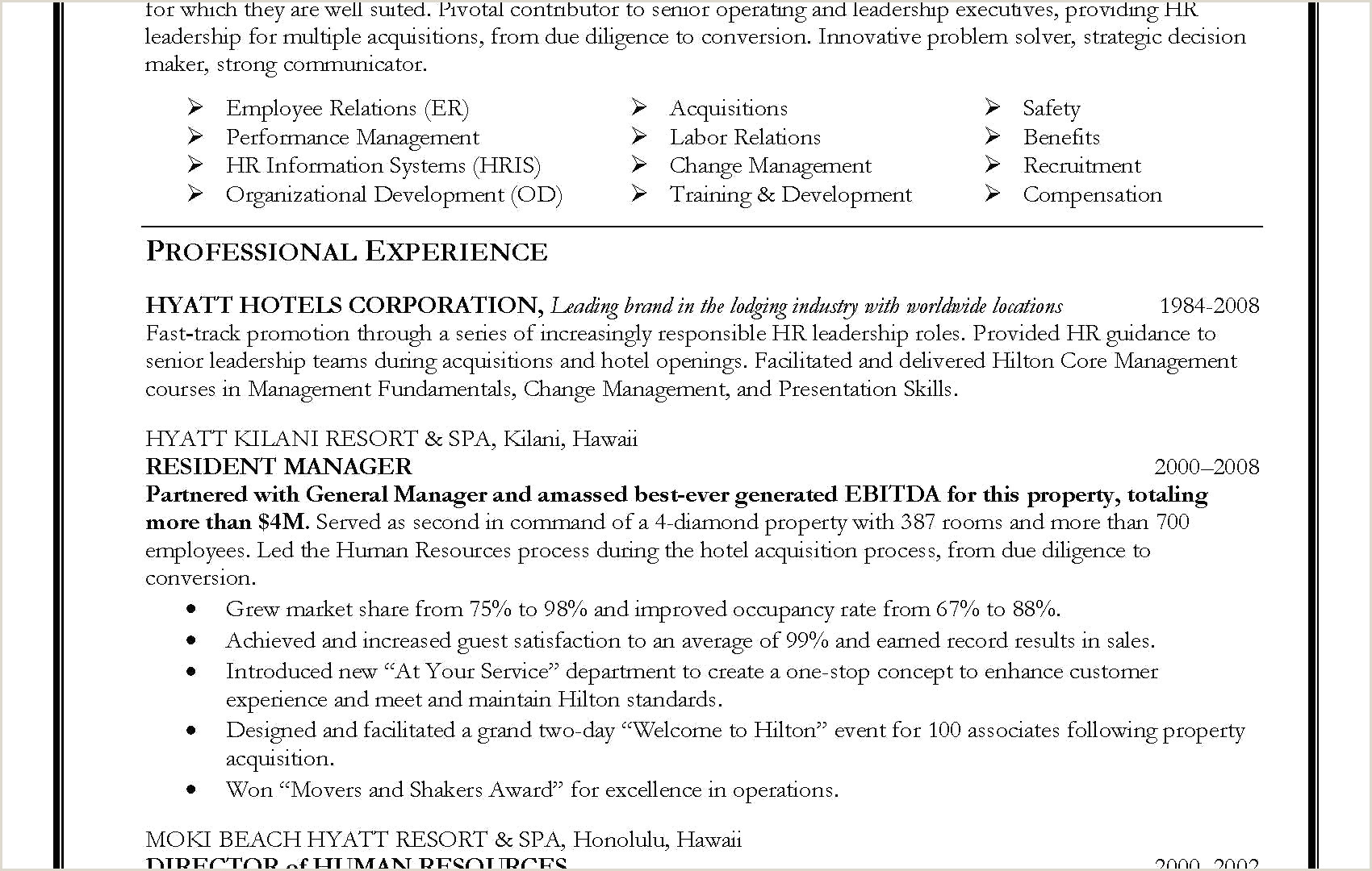 Hr Director Resume Sample Generalist Download Manager