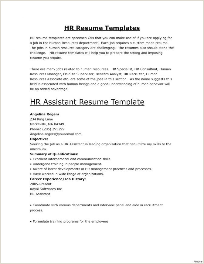 Hr Fresher Resume Format Doc Best Human Resources Manager Resume Example Livecareer Hr