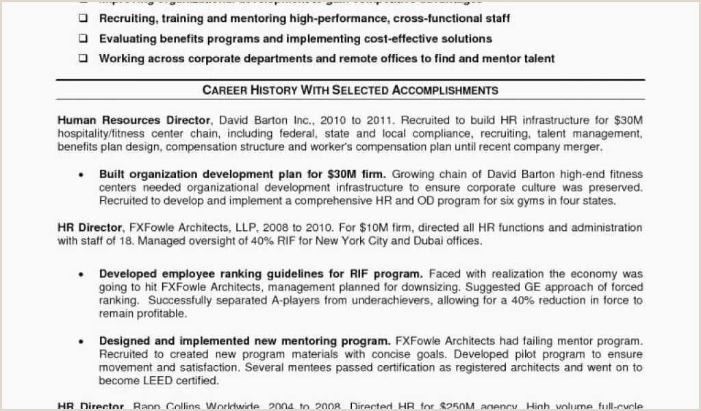 Hr Manager Resume Sample 80 Beautiful Stock Senior Operations Logistics Manager